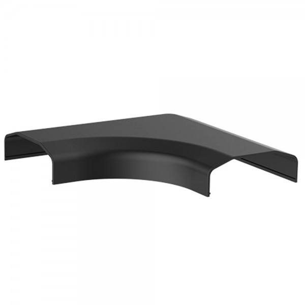 90° Winkel Verbindungsstück Eckstück für Kabelkanal Kabelschacht Schwarz