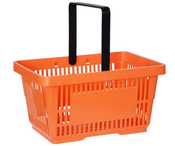 Einkaufskorb Tragekorb Verkaufskorb mit Griff orange 22l 30kg