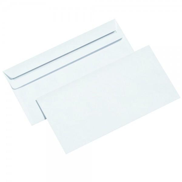 1000x Briefumschlag DIN lang selbstklebend weiß Briefumschläge ohne Fenster