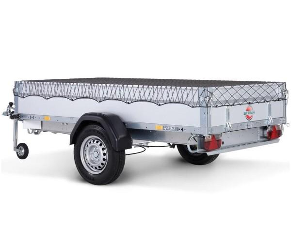Anhängernetz Ladungssicherungsnetz Transportnetz 2,00 x 1,50 m dehnbar auf 2,5 x 3,10m Netz für Anhä
