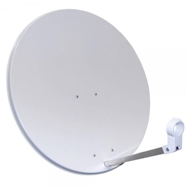 Megasat SAT-Antenne Stahlspiegel SAT-Schüssel P80SSH 80cm hellgrau