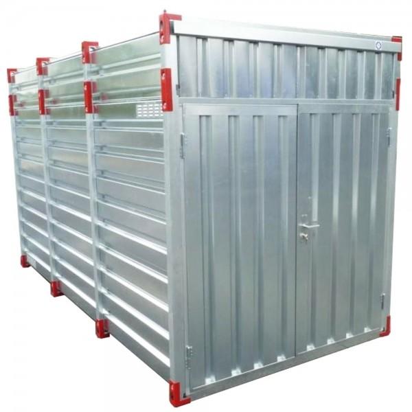 6m Lagercontainer mit Hoher Decke - Doppeltür stirnseitig
