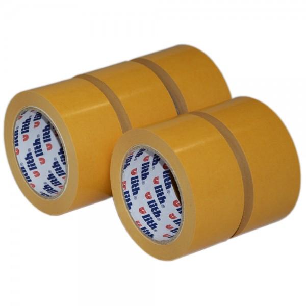 5x Beidseitiges Klebeband Verlegeband Doppelseitiges Teppichband 50mm x 25m