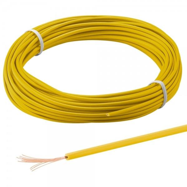 Kupferlitze 1mm² einadrig Strom Kabel 1m Leitung isoliert 60V Gelb Klasse 5