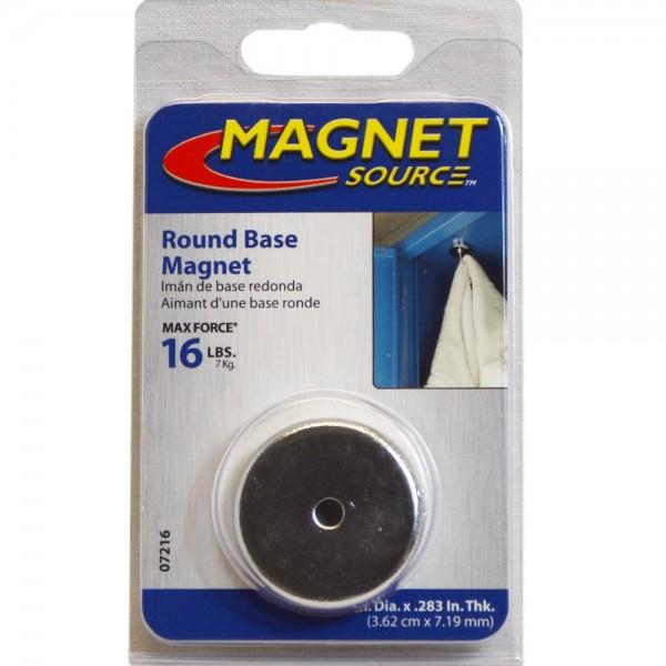 Magnet Rundmagnet verchromt Ø 36x7,2 mm für Heim und Büro bis 7Kg Traglast