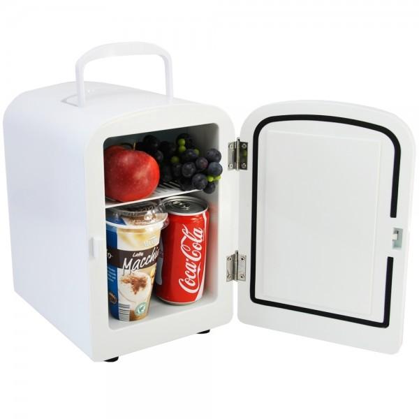 Mini Kühlschrank Kühlbox Kühler Wärmebox 12/230V 4L Weiss