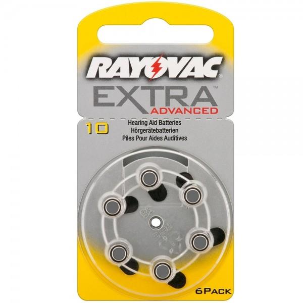 6x Batterie PR70 10A V10 1,45V Rayovac Knopfzelle für Hörgergäte